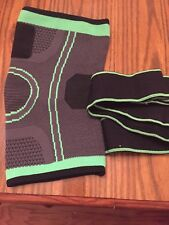 New Knee Compression Sleeve. Black and Green