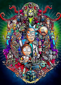 Rick and Morty Poster Rick and Morty A4 Poster Laminated