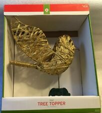 Decor Gold Bird Christmas Tree Topper With Box