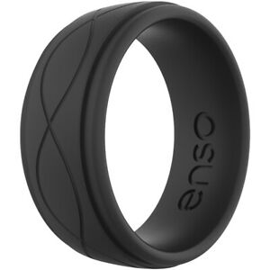 Enso Rings Men's Infinity Series Silicone Ring -  Obsidian