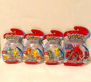 NEW Pokemon Battle Figures Lot With Bulbasaur - Squirtle - Scizor - 3x Pikachu