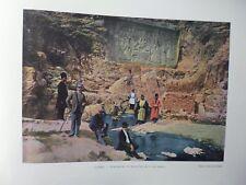 PERSE/Gravure 19°in folio couleur/Tchechan Ali.le Schah Fath Ali et ses enfants