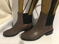 Clarks genuine ladies leather size 6.5 D GREY flat ankle Womens boots shoes low