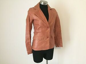 NEW! Authentic Italian Leather Jacket Size 8