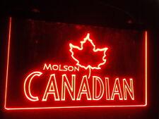 12x8 Inch Molson Canadian Led Neon Sign On/Off  bar mancave budweiser pub