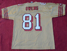 Vintage Adidas NFL San Francisco 49ers Terrell Owens #81 Jersey Size L.