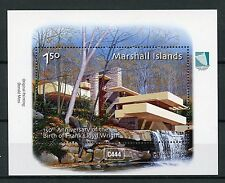 Islas Marshall 2017 estampillada sin montar o nunca montada Frank Lloyd Wright 150th 1 V m/s Sellos De Arquitectura