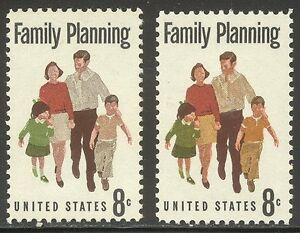 U.S. #1455a Mint NH w/Cert - 1972 8c Family, Yellow Color Omitted