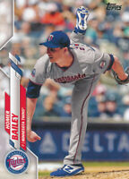 Homer Bailey 2020 Topps Series 2 #357 Twins Card