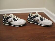 Used Worn Size 12 Nike Air Max Wright Shoes White Navy Silver