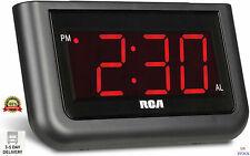 Alarm Clock Digital Loud LED Display Electric Battery Backup Snooze LCD Corded,