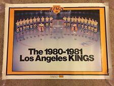 Vintage 1980 / 81 LA Kings Team Poster NHL Hockey