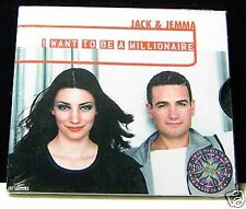 Jack & Jemma I Want To Be A Millionaire 2 track cd NEW! (who wants to be a)