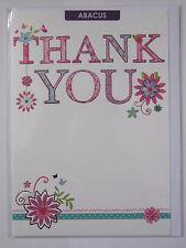 Meraviglioso Colorato Fiori & Lettere BIGLIETTO D'AUGURI grazie
