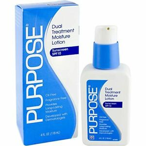 Purpose Dual Treatment Moisture Lotion with SPF 10 4 Ounce Bottle
