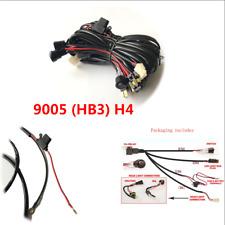 Professional 12V Single Car LED Light Bar Wiring Loom Harness Hi/Lo Beam 9005 H4