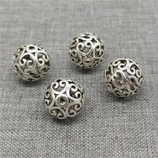 5pcs of 925 Sterling Silver Spiral Ball Beads Floral Spacers 10mm