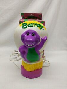 Vintage Barney The Dinosaur Bedside Lamp Night Light 1992 Lyons Group w/ Box