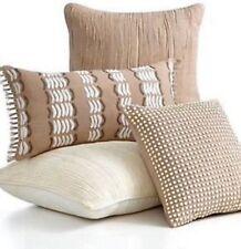 "Martha Stewart Zebra Stripe 12"" x 24"" Decorative Pillow BEIGE KHAKI P1137"
