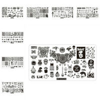 Nail Stamping Plates Rectangle Metal Image Template Print Stencil Nail Art Tool
