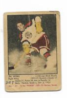 1951-52 Parkhurst #41 JIM PETERS RC Rookie Card