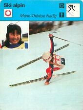 FICHE CARD : Marie-Theres Nadig SWITZERLAND SUISSE  Alpine skiing SKI ALPIN 70s