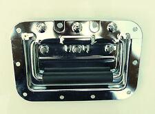 Chrome plated sprung metal handle x2 large speaker amplifier loudspeaker cabinet