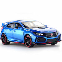 1/32 Honda Civic Type R Model Car Alloy Diecast Gift Toy Vehicle Collection Blue