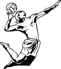 Autoaufkleber Volleyball 014 Aufkleber, Sticker