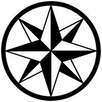 TRIBAL COMPASS ROSE NAUTICAL STAR CAR BOAT BIKE WINDOW VINYL DECAL STICKER (C-3)