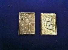 Battlestar Galactica Cubit Set, Solid Metal, Very Detailed, Gold Plated