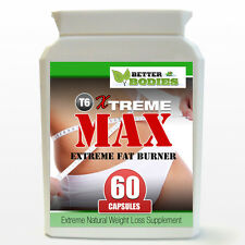T6 Xtreme MAX Diet Pills STRONG Ephedra Ephedrine Free Safe Weight Loss 60 Pills