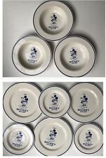 Vintage Disney Mickey Mouse set of 3 dinner plates+ 3 soup bowls+3 salad plates