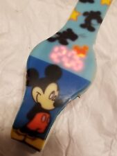 Disney Accutime LED  Mickey Mouse Watch Rubber Band MK1427 Vintage WORKING !
