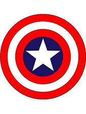 PERSONALISED CAPTAIN AMERICA EDIBLE CAKE TOPPER 7.5-INCHES ROUND ICING SHEET