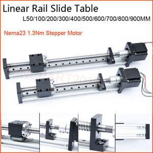 Electric Linear Rail Stage Sliding Table Ballscrew Module Actuator CNC XYZ Axis