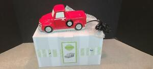 SCENTSY Special Delivery Red Pickup Truck Full Sized Candle Wax Warmer Dish Bulb