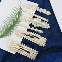 6Pcs/Set Pearl Hair Clip Barrettes Women Girls Hairpins Accessories New 2019