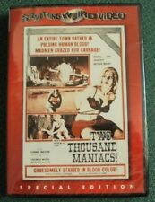 TWO THOUSAND MANIACS DVD SEALED Something Weird H.G. Lewis horror exploitation