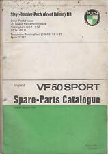 PUCH VF50 SPORT ORIGINAL 1975 FACTORY SPARE PARTS CATALOGUE