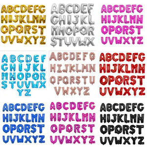 16''A to Z Alphabet Foil Balloons Letter Birthday Wedding Decoration event party