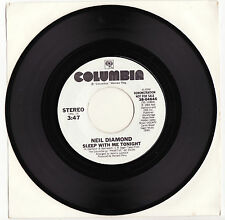 NEIL DIAMOND - SLEEP WITH ME TONIGHT Megarare 1984 US PROMO Single Release! M-