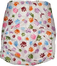 Modern Reusable Washable Baby Cloth Nappy Nappies & Insert, Paws