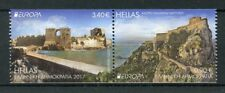 Greece 2017 MNH Castles Europa 2v Se-tenant Booklet Set Architecture Stamps