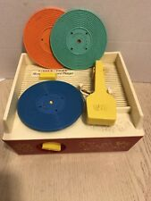 Vintage 1971 Fisher-Price Music Box Record Player #995. Works Great! 3 records