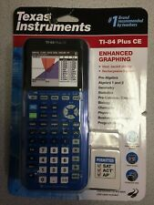 Texas Instruments TI 84 PLUS CE Graphing Calculator - Blue Brand new
