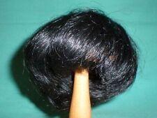 "doll wig/ human hair 8.5"" to 10"" black, short/Global Dolls/EHP. 22/25 schw. kurz"