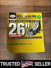 """BELL 26"""" inch Inner Bike Tube 26 x 1 3/8 Bicycle Rubber Tire Interior Self Seal"""