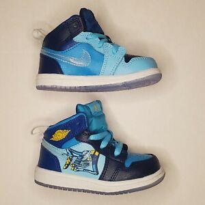 Nike Air Jordan 1 Mid Fly Blue Void/Royal Toddler Shoes BV8175-400 Size 5C