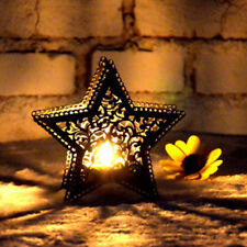 3D Hollow Star Moroccan Candlestick Candle Tea Light Holder Party Suplplies UK